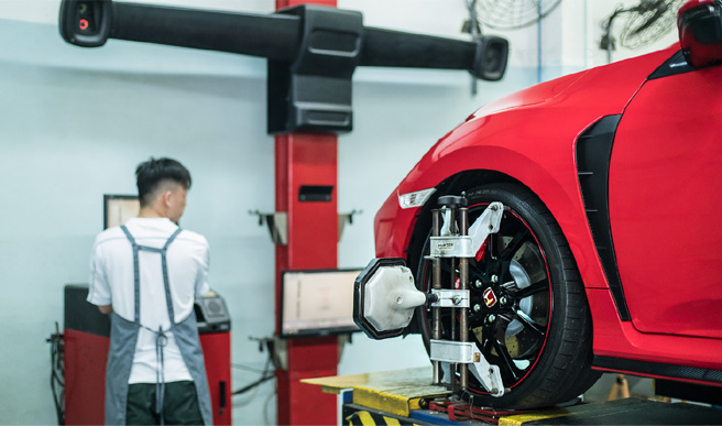 Computerised-Wheel-Alignment-Service Honda - Kah Motor - One Stop Service