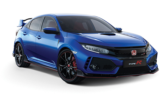 Brilliant-Sporty-Blue-Metallic Honda Civic Type R