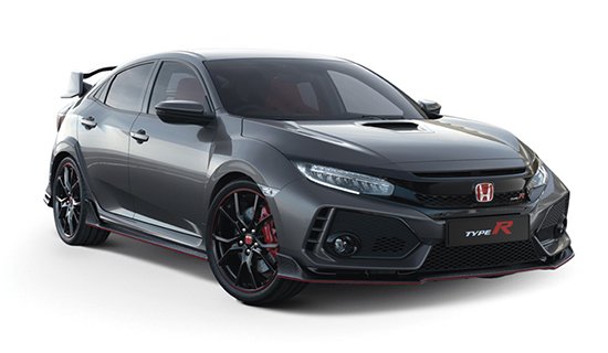 Polished-Metal-Metallic Honda Civic Type R