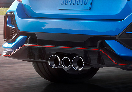 Triple-Exhaust Honda Civic Type R