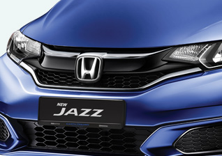 1.3-sporty-front-grille Honda Jazz